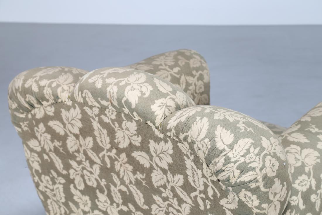 MANIFATTURA ITALIANA  Pair of wood and fabric - 4