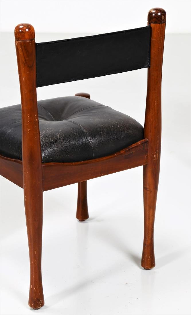 SILVIO COPPOLA Six chairs in walnut and leather by - 3