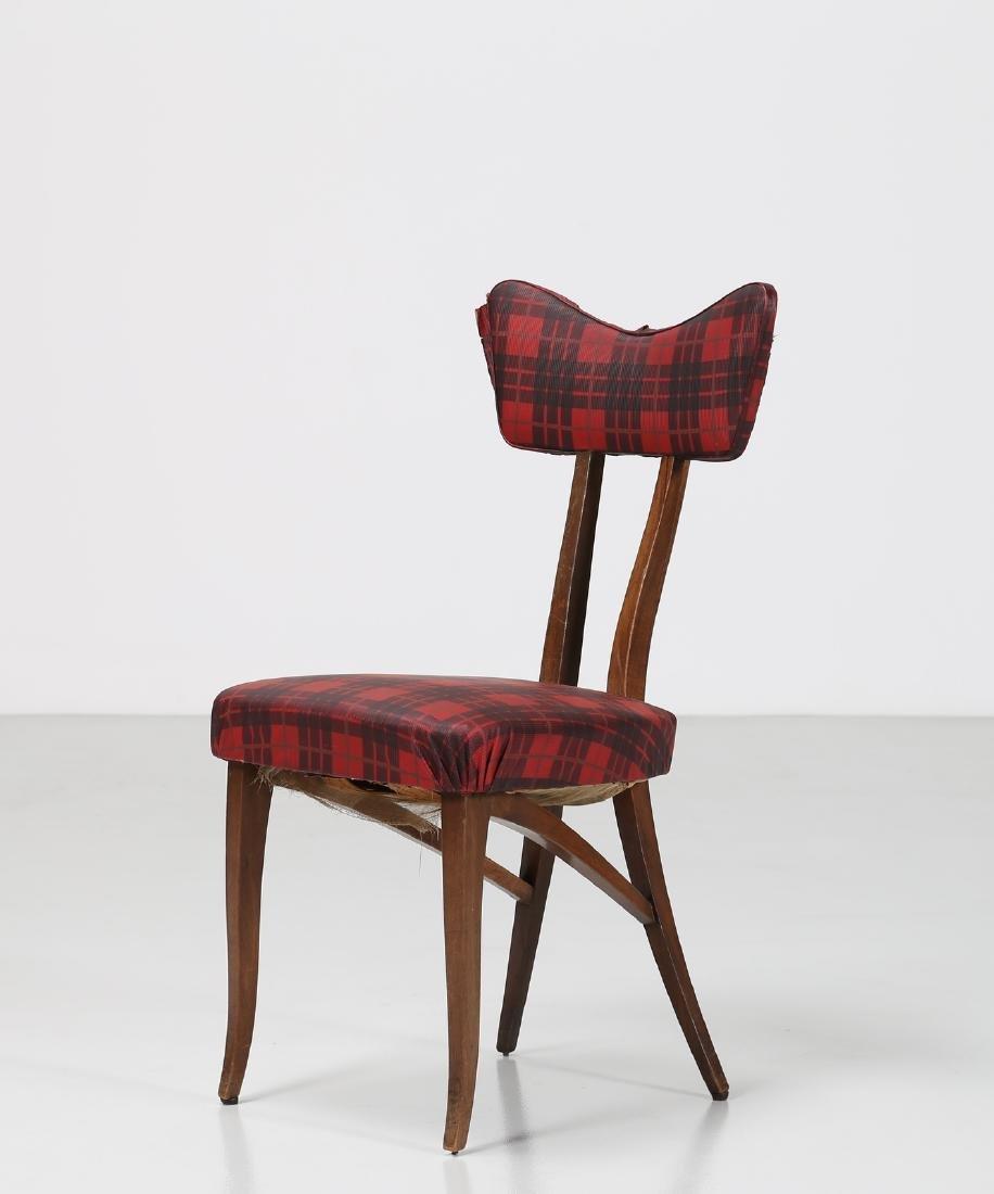 MELCHIORRE BEGA Attrib. Walnut chair with original