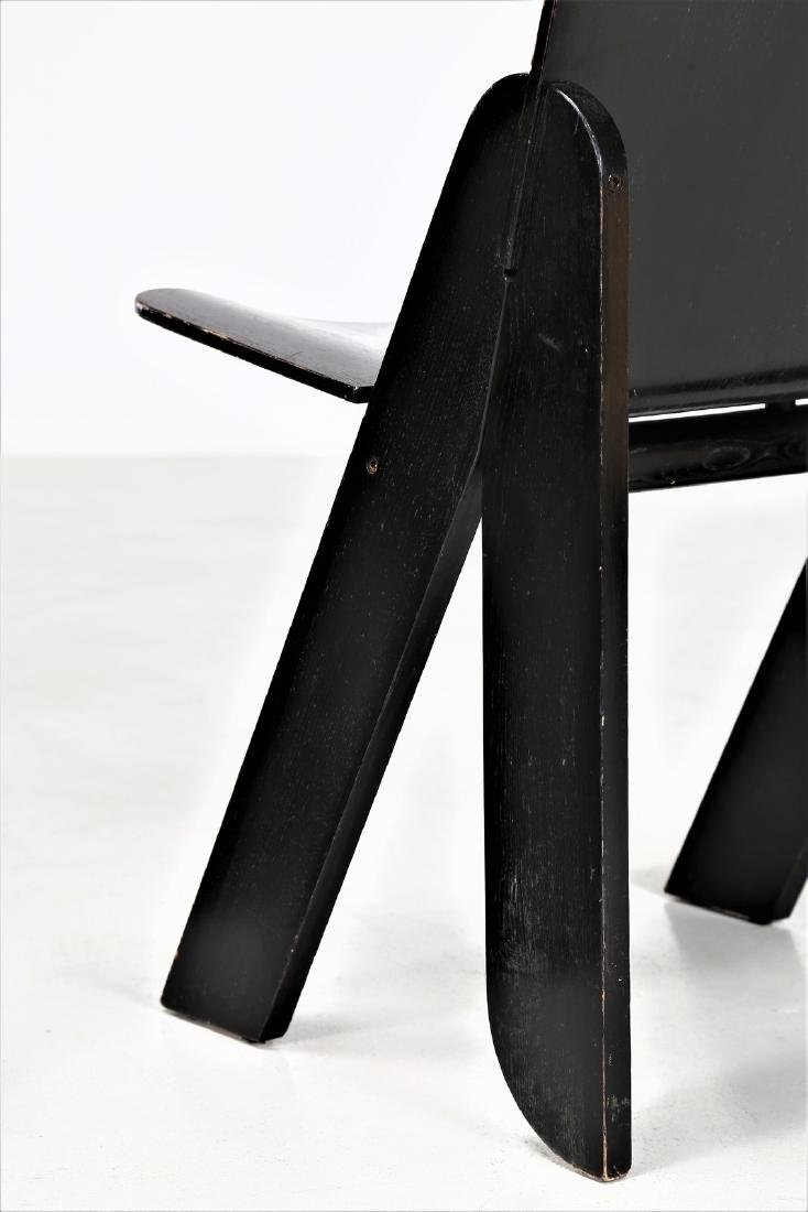 GIGI SABADIN Four chairs in wood and lacquered bent - 2