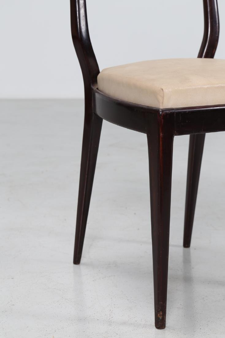 MANIFATTURA ITALIANA  Six mahogany and skai chairs, - 7