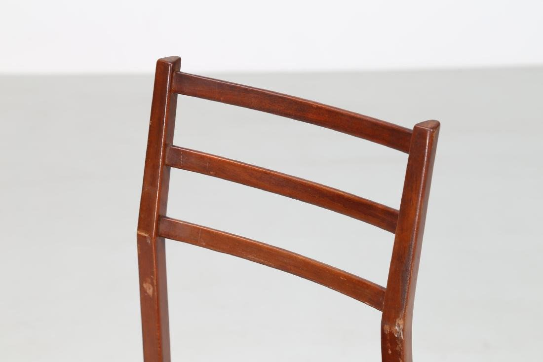 MANIFATTURA ITALIANA  Six beech and skai chairs, 1960s. - 5