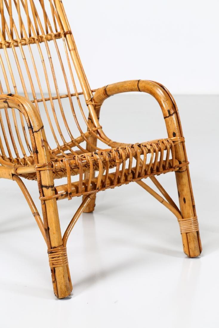 MANIFATTURA ITALIANA  Four wicker armchairs, 1960s. - 4