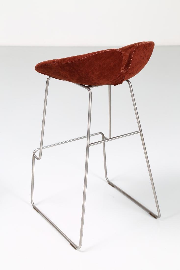 MANIFATTURA ITALIANA  Pair of stools in chromed metal - 5