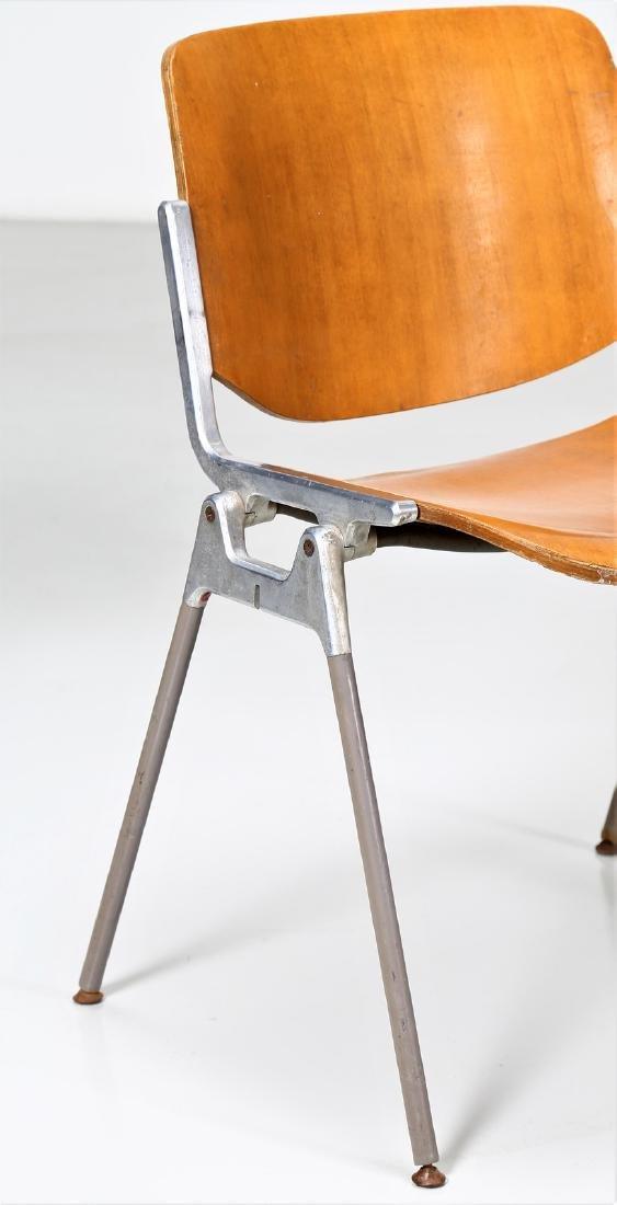GIANCARLO PIRETTI Eight bentwood and metal chairs, - 2