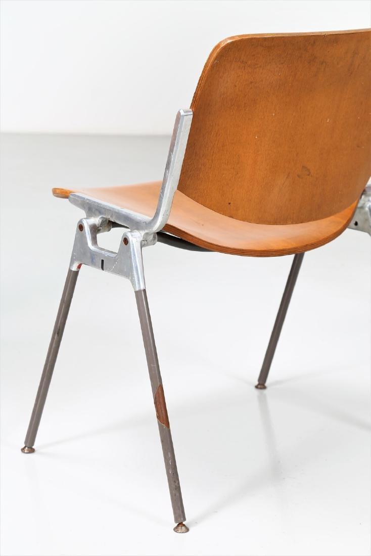 GIANCARLO PIRETTI Eight bentwood and metal chairs, - 3