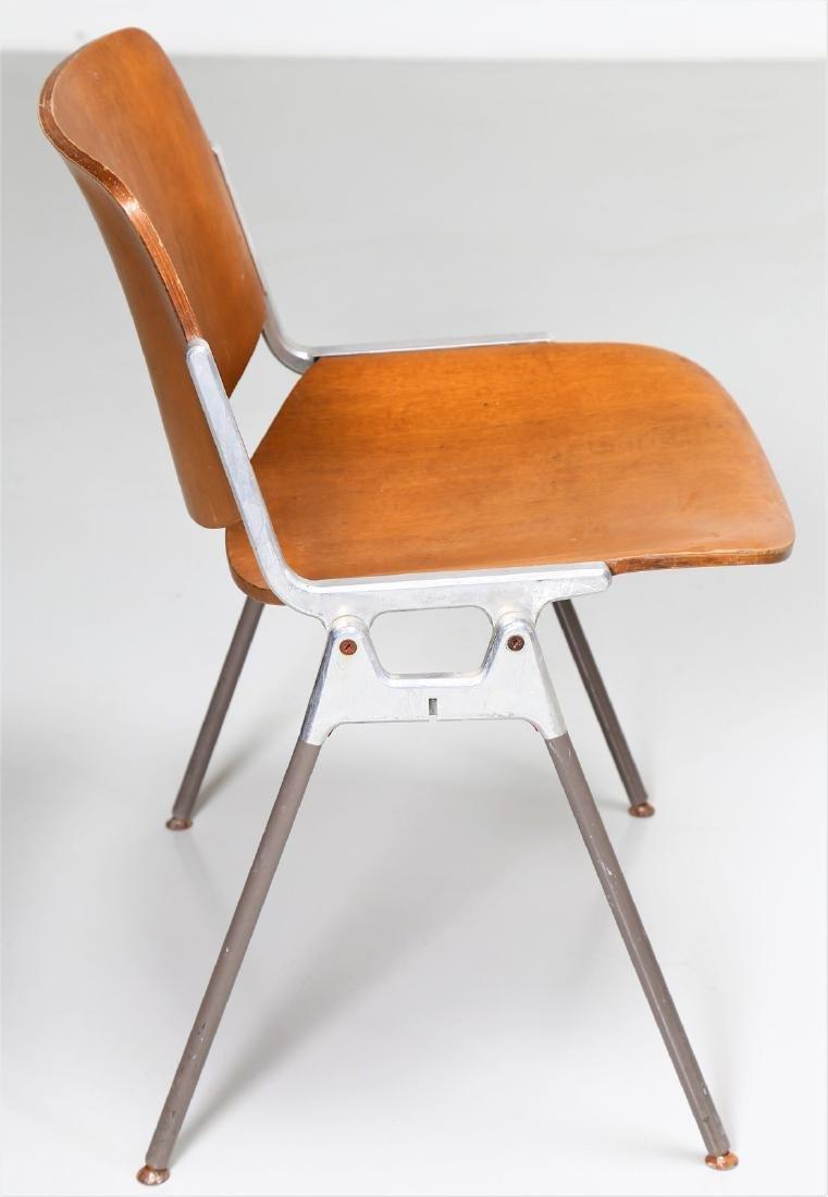 GIANCARLO PIRETTI Eight bentwood and metal chairs, - 4