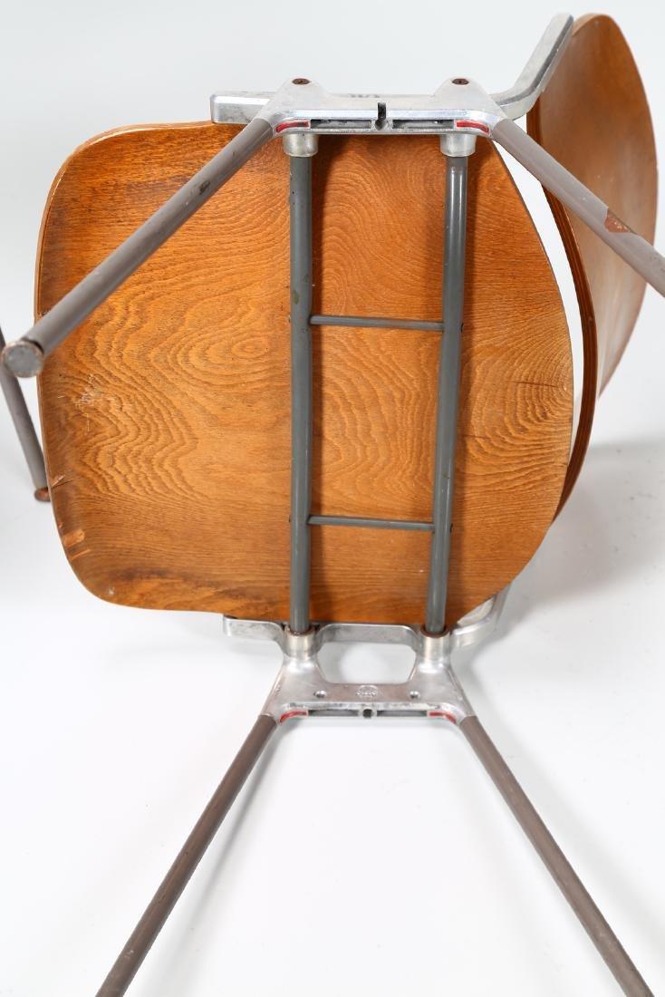 GIANCARLO PIRETTI Eight bentwood and metal chairs, - 6