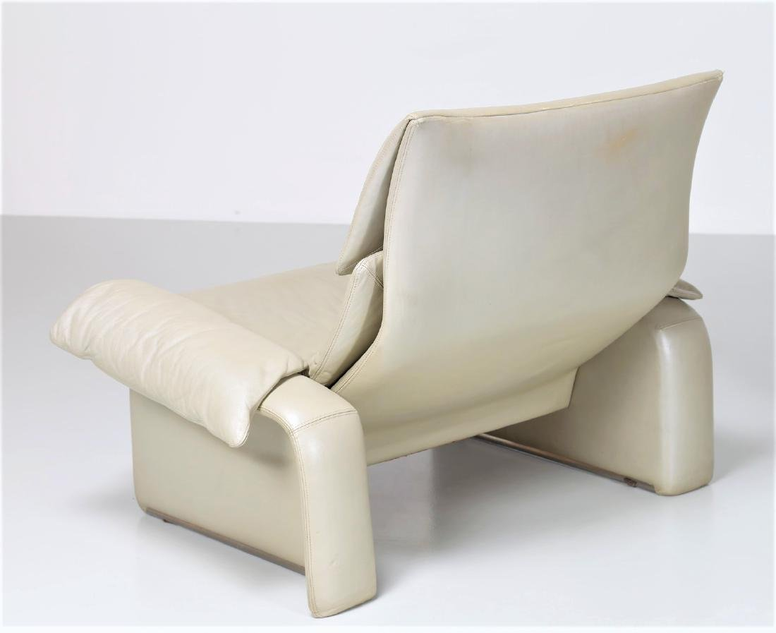 GIOVANNI OFFREDI Leather two-seater sofa and armchair - 3