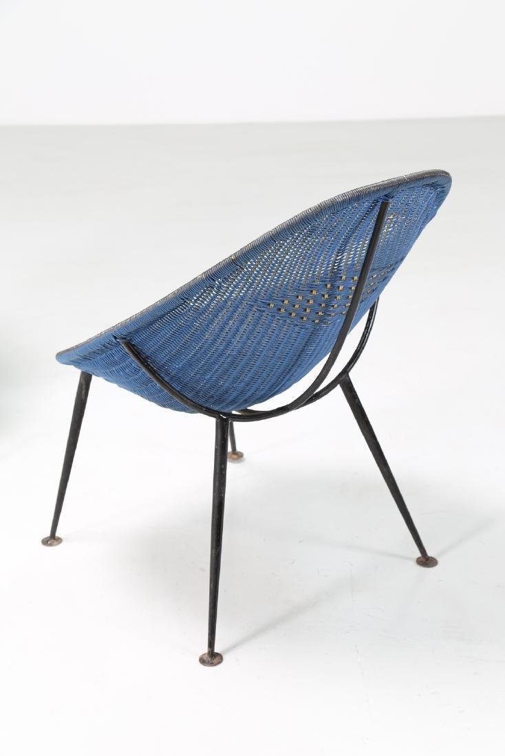 MANIFATTURA ITALIANA  Pair of iron and plastic chairs, - 3