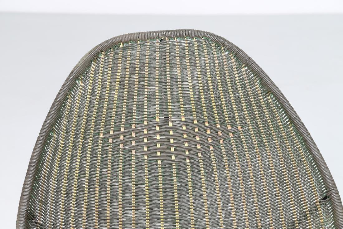 MANIFATTURA ITALIANA  Pair of iron and plastic chairs, - 4
