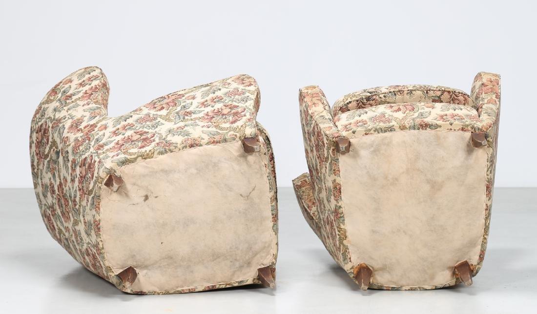 MANIFATTURA ITALIANA  Pair of armchairs in wood and - 3