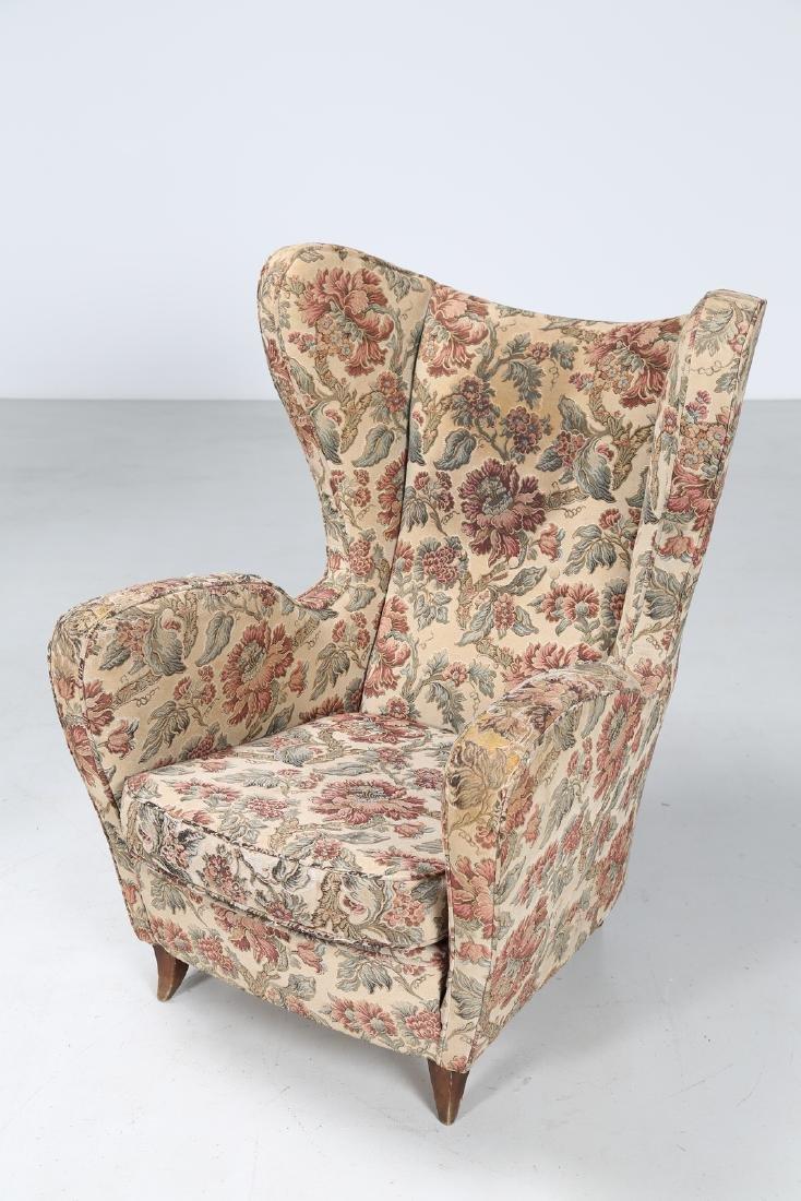 MANIFATTURA ITALIANA  Pair of armchairs in wood and - 5