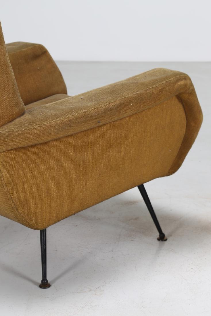 MANIFATTURA ITALIANA  Pair of armchairs in wood and - 6