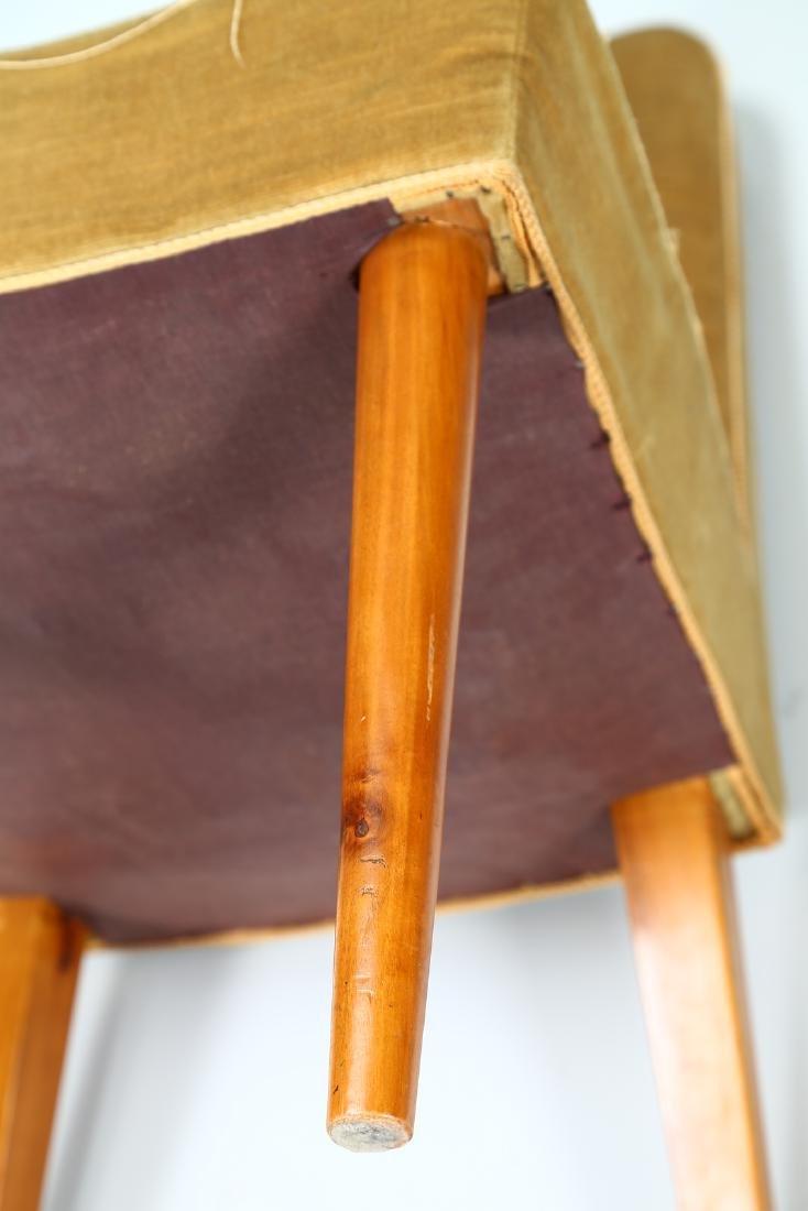 UGO CARA' Eight wood and fabric chairs, 1950s. - 6