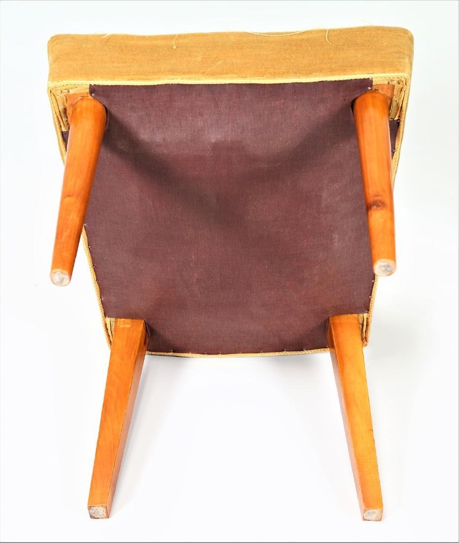 UGO CARA' Eight wood and fabric chairs, 1950s. - 7