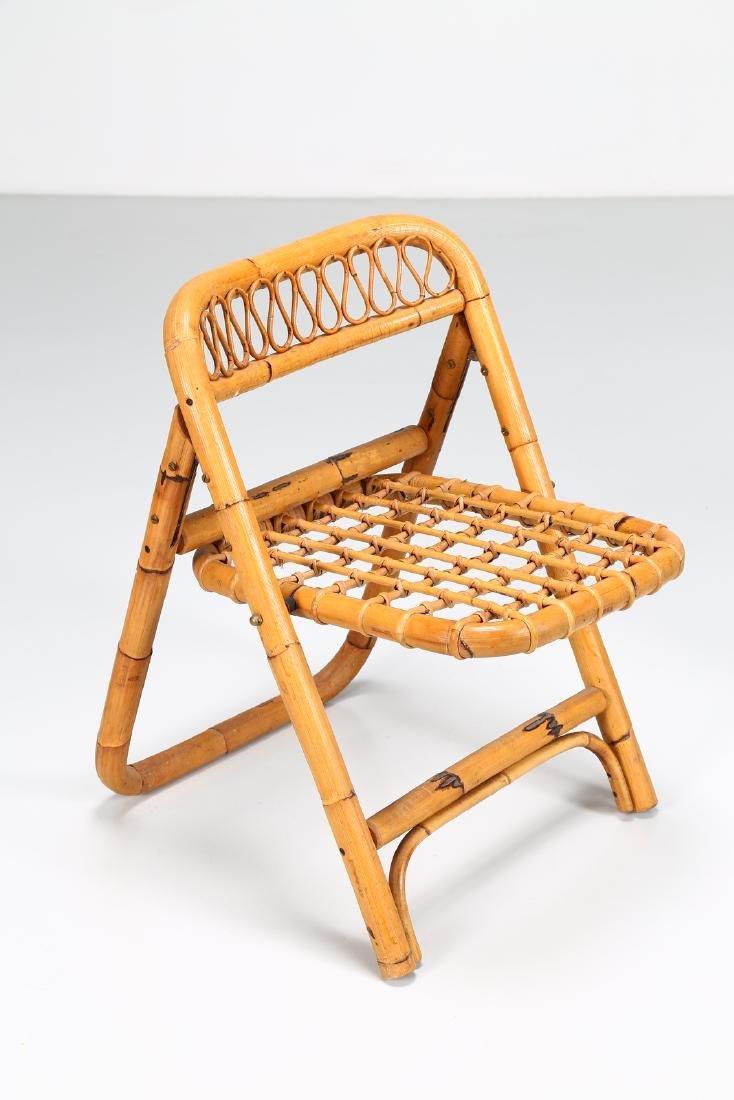 MANIFATTURA ITALIANA  Four folding bamboo chairs, - 2