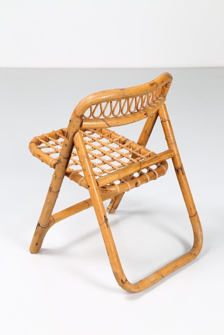 MANIFATTURA ITALIANA  Four folding bamboo chairs, - 3