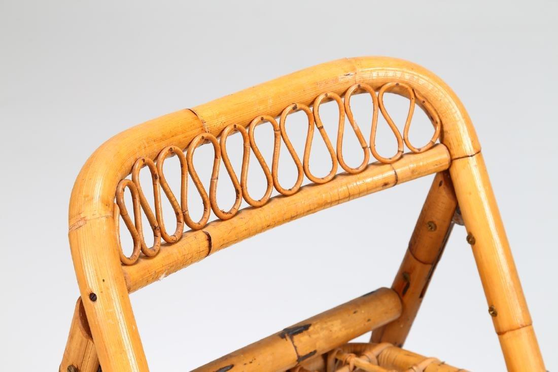 MANIFATTURA ITALIANA  Four folding bamboo chairs, - 4