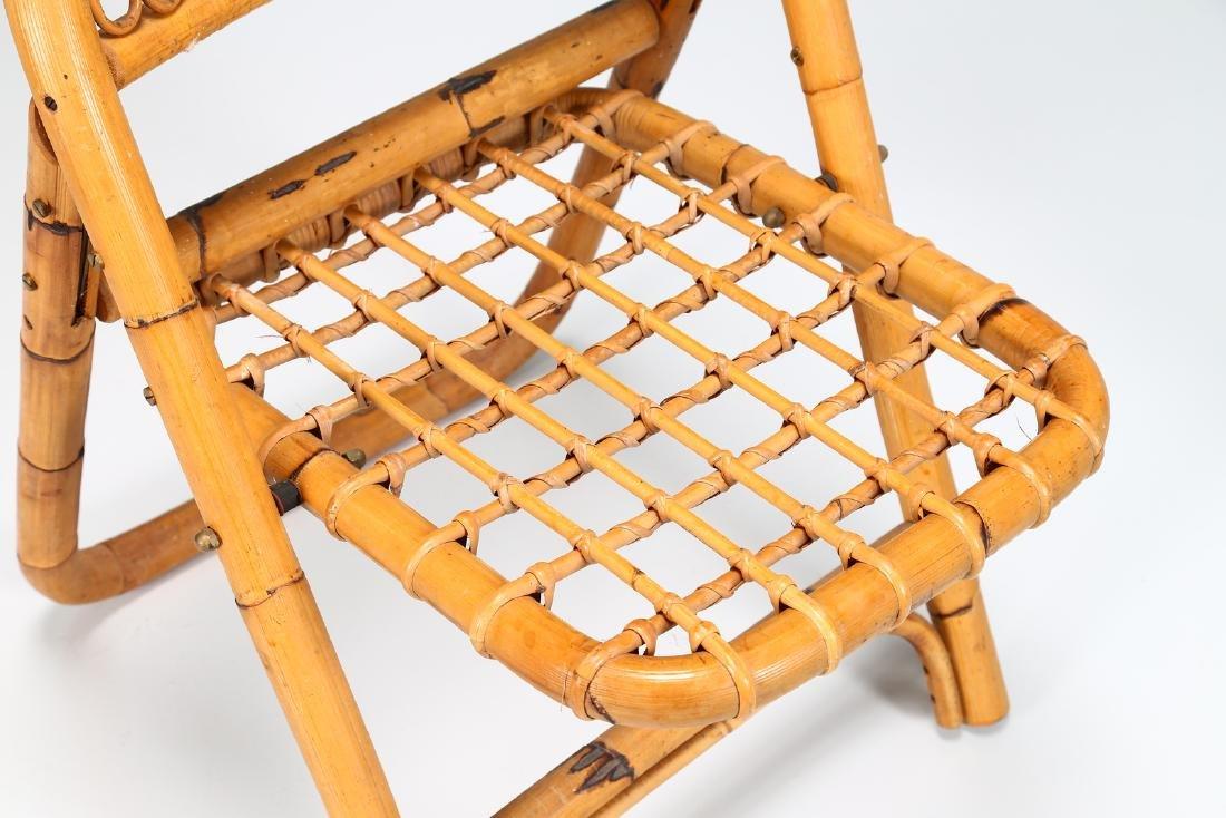 MANIFATTURA ITALIANA  Four folding bamboo chairs, - 5