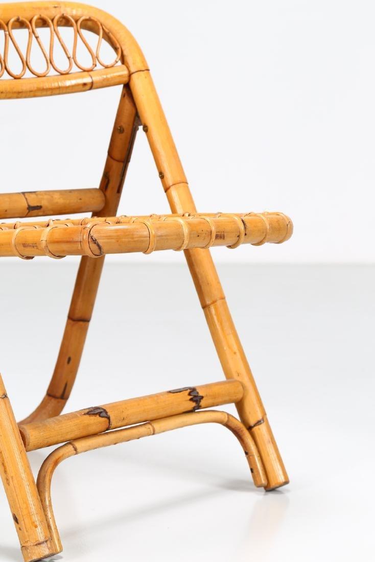 MANIFATTURA ITALIANA  Four folding bamboo chairs, - 6