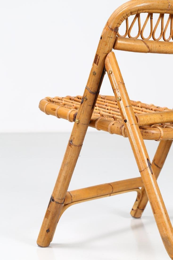 MANIFATTURA ITALIANA  Four folding bamboo chairs, - 7