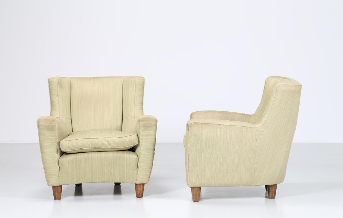 MAURIZIO TEMPESTINI Distinctive pair of wood and fabric - 3