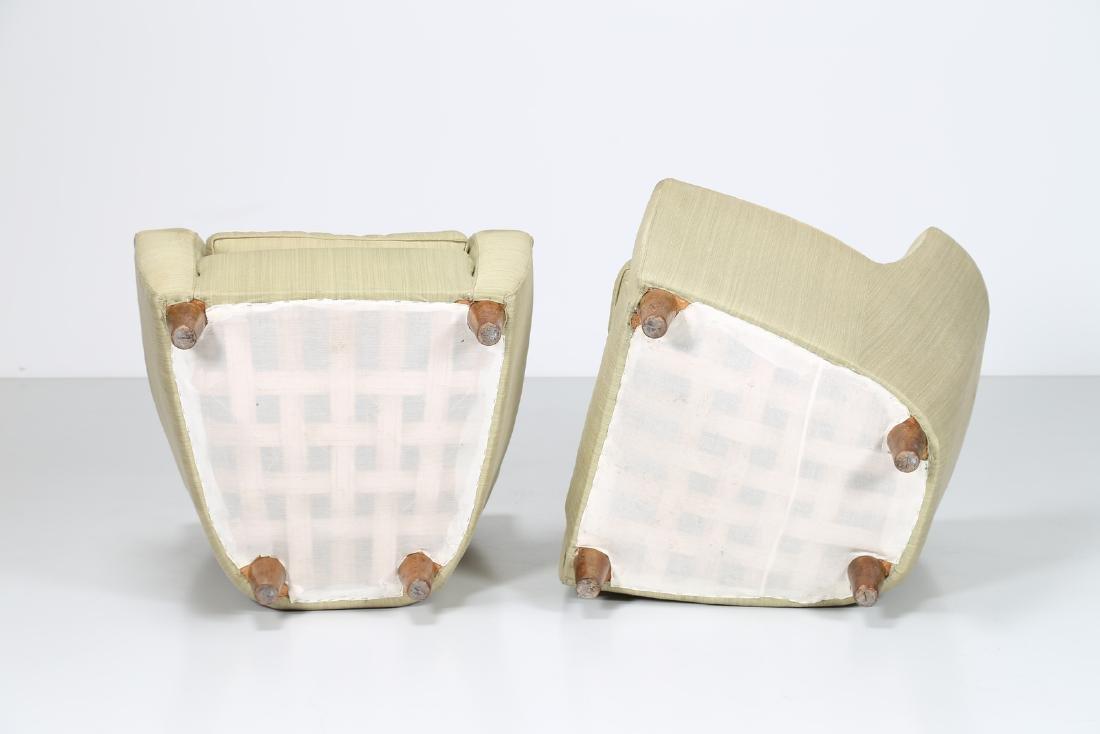 MAURIZIO TEMPESTINI Distinctive pair of wood and fabric - 4