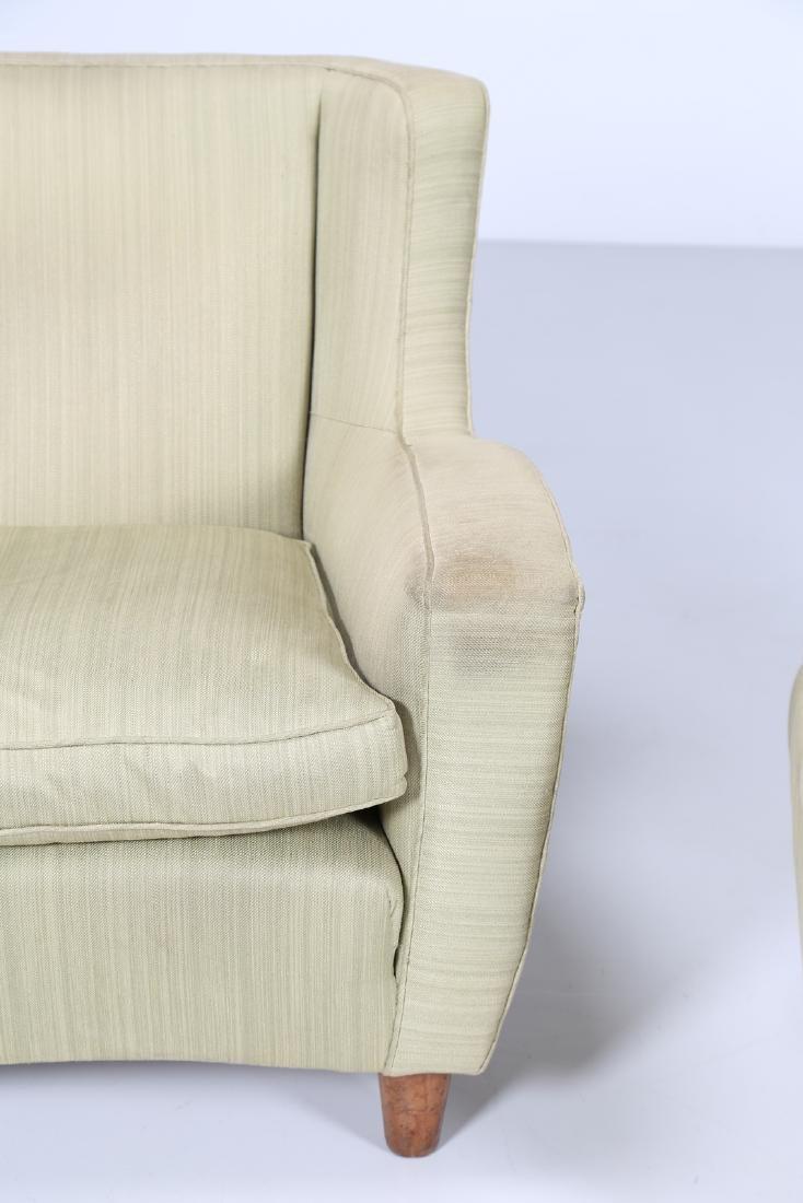 MAURIZIO TEMPESTINI Distinctive pair of wood and fabric - 5