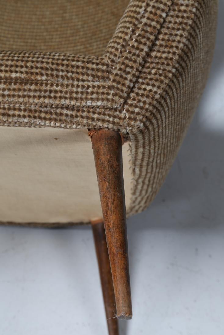 MANIFATTURA ITALIANA  Pair of armchairs in wood and - 4