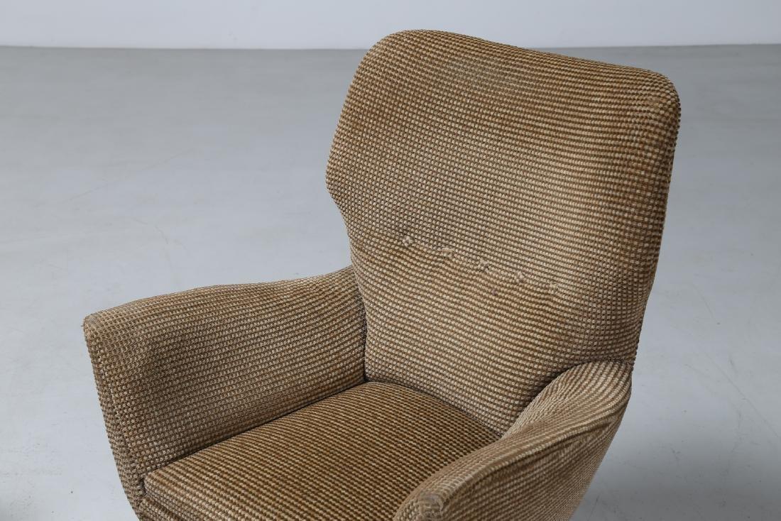 MANIFATTURA ITALIANA  Pair of armchairs in wood and - 9