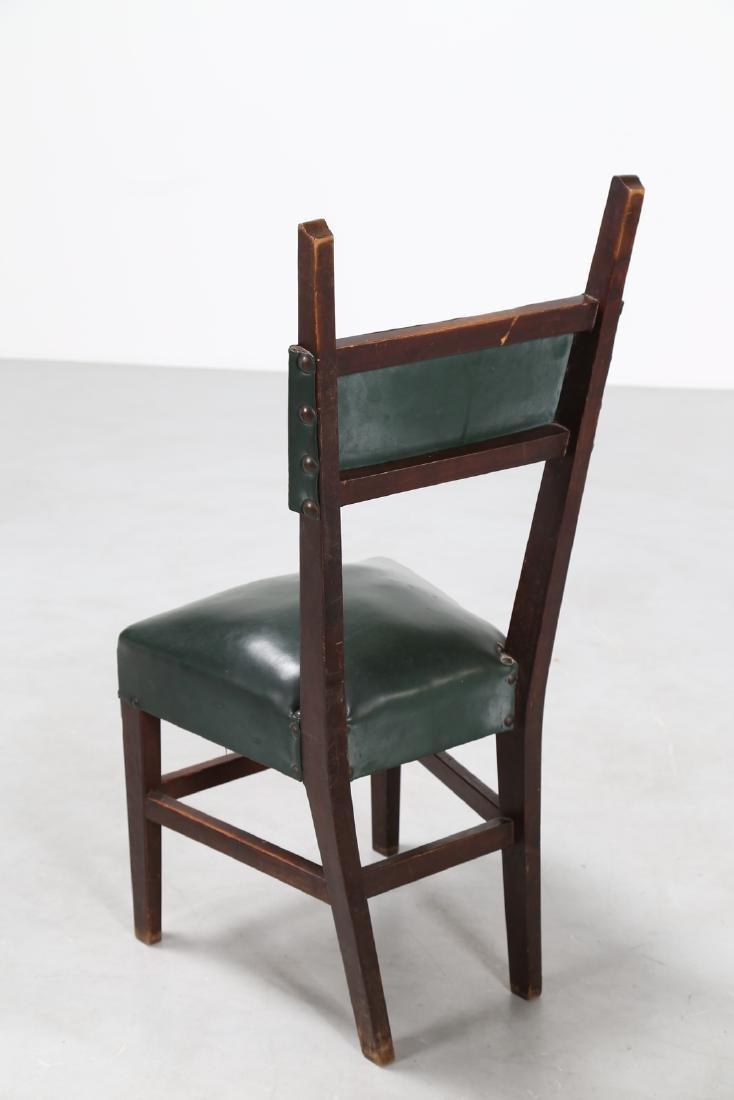 MANIFATTURA ITALIANA  Twelve wood chairs with skai - 3