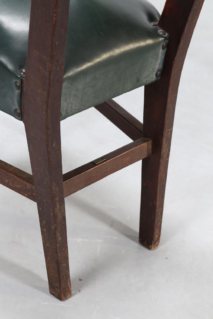 MANIFATTURA ITALIANA  Twelve wood chairs with skai - 6