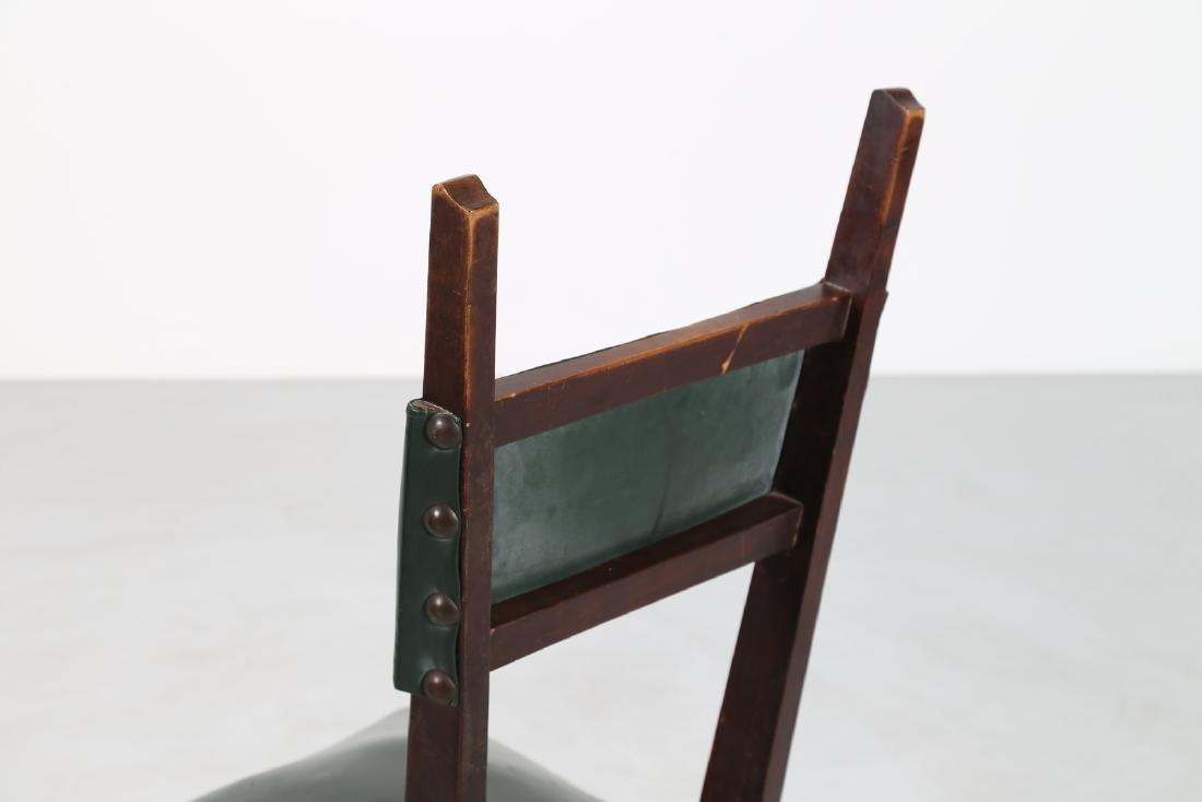 MANIFATTURA ITALIANA  Twelve wood chairs with skai - 7
