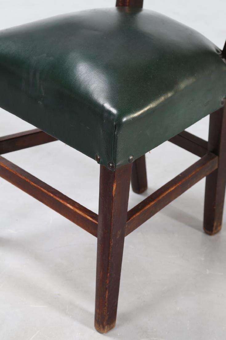 MANIFATTURA ITALIANA  Twelve wood chairs with skai - 8