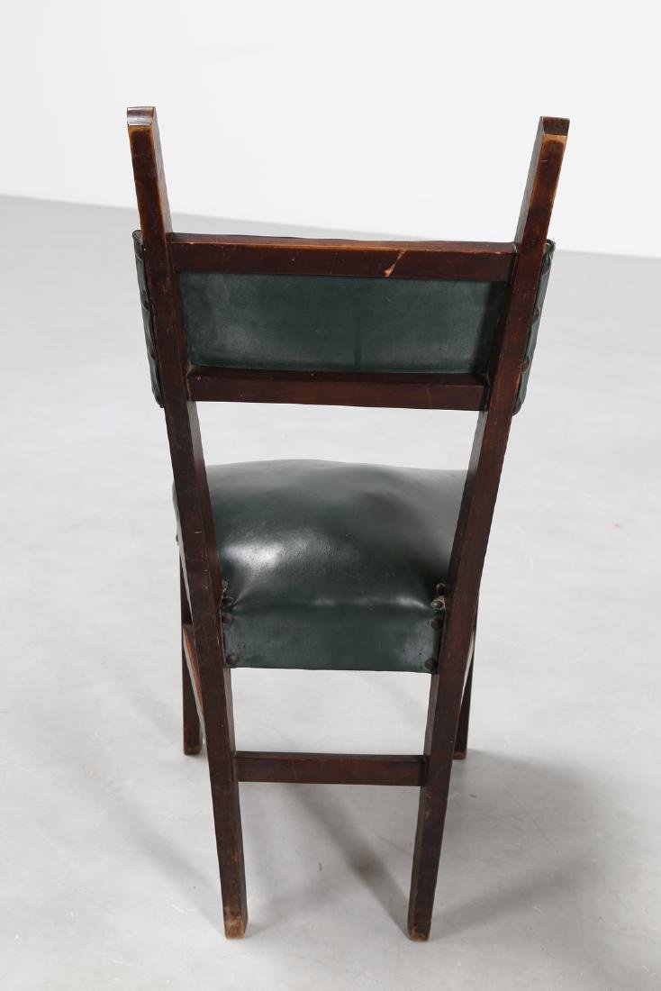 MANIFATTURA ITALIANA  Twelve wood chairs with skai - 9