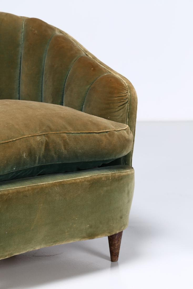 OSVALDO BORSANI Pair of wood and fabric armchairs, - 3