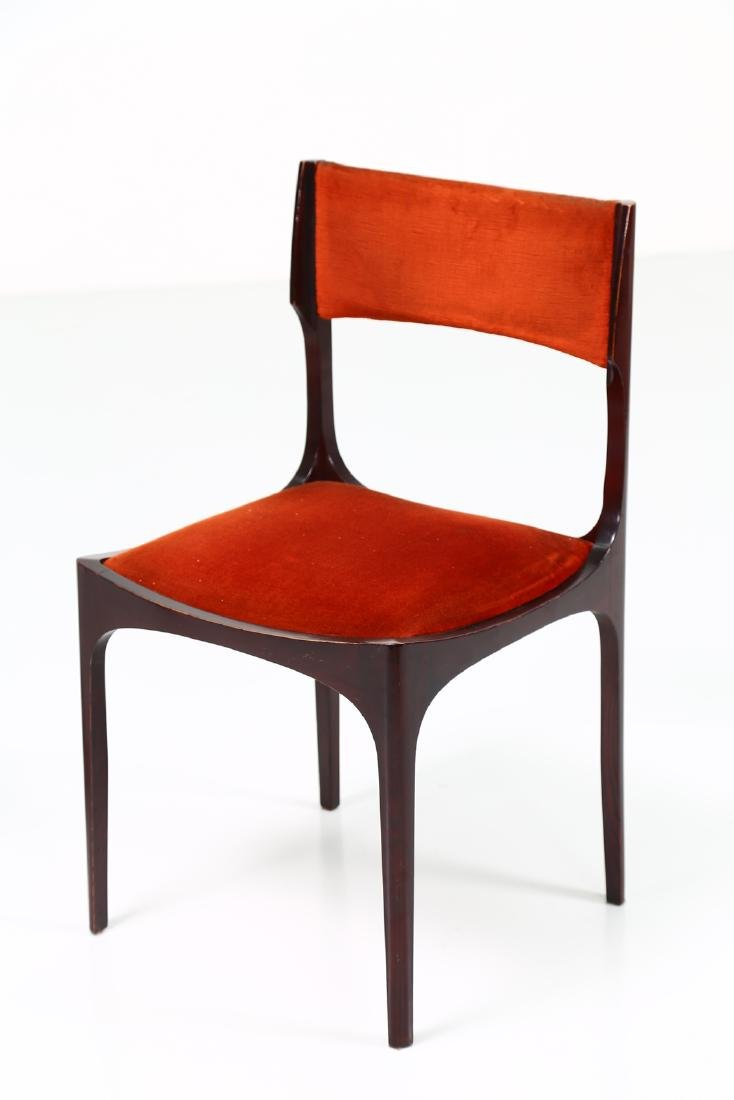 GIUSEPPE GIBELLI Eleven chairs in wood and fabric by - 2