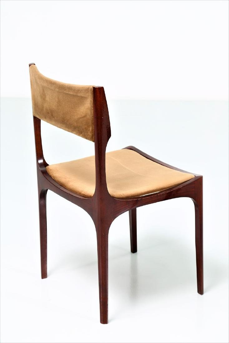 GIUSEPPE GIBELLI Eleven chairs in wood and fabric by - 4