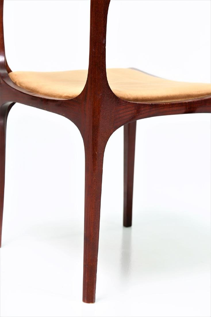 GIUSEPPE GIBELLI Eleven chairs in wood and fabric by - 5