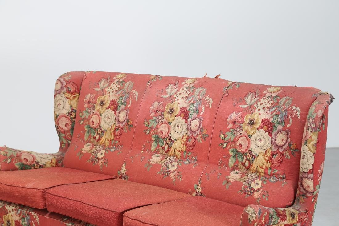 MANIFATTURA ITALIANA  Wood sofa with original fabric - 2