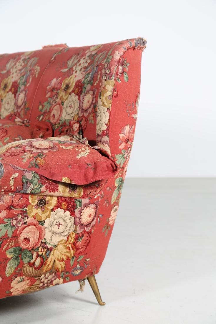 MANIFATTURA ITALIANA  Wood sofa with original fabric - 5