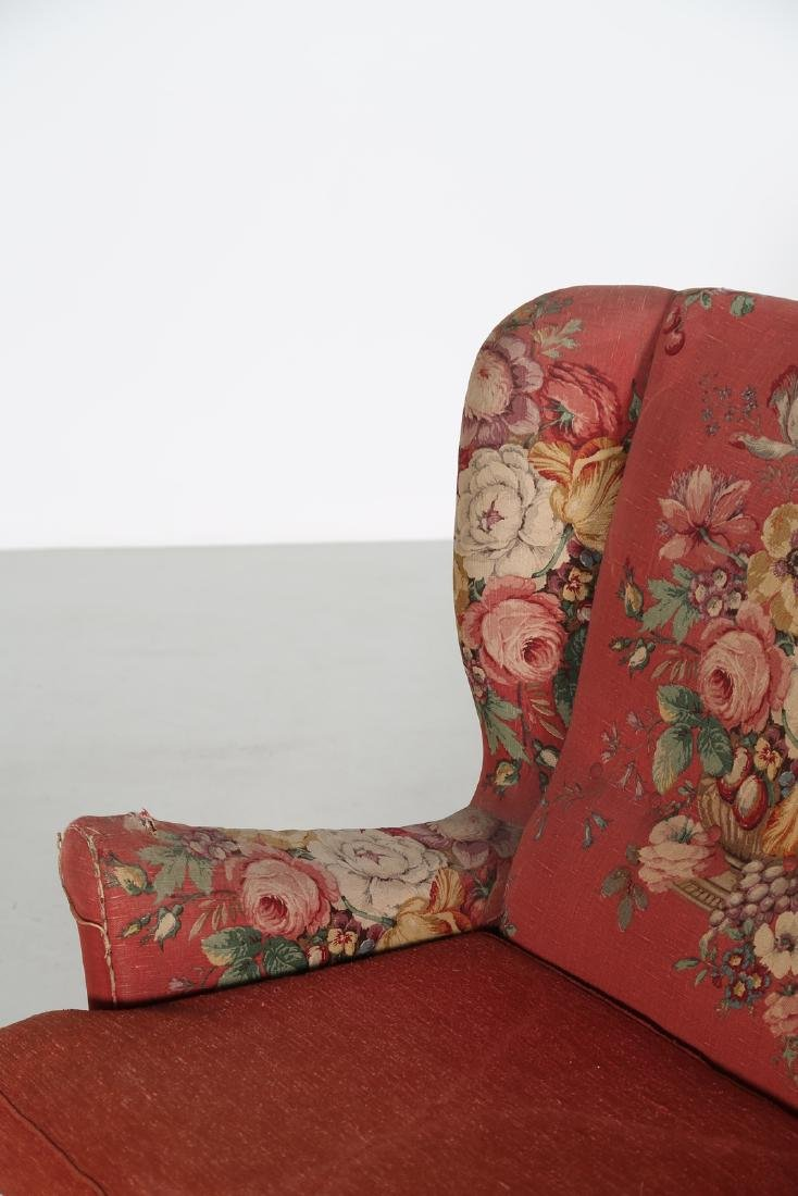 MANIFATTURA ITALIANA  Wood sofa with original fabric - 7
