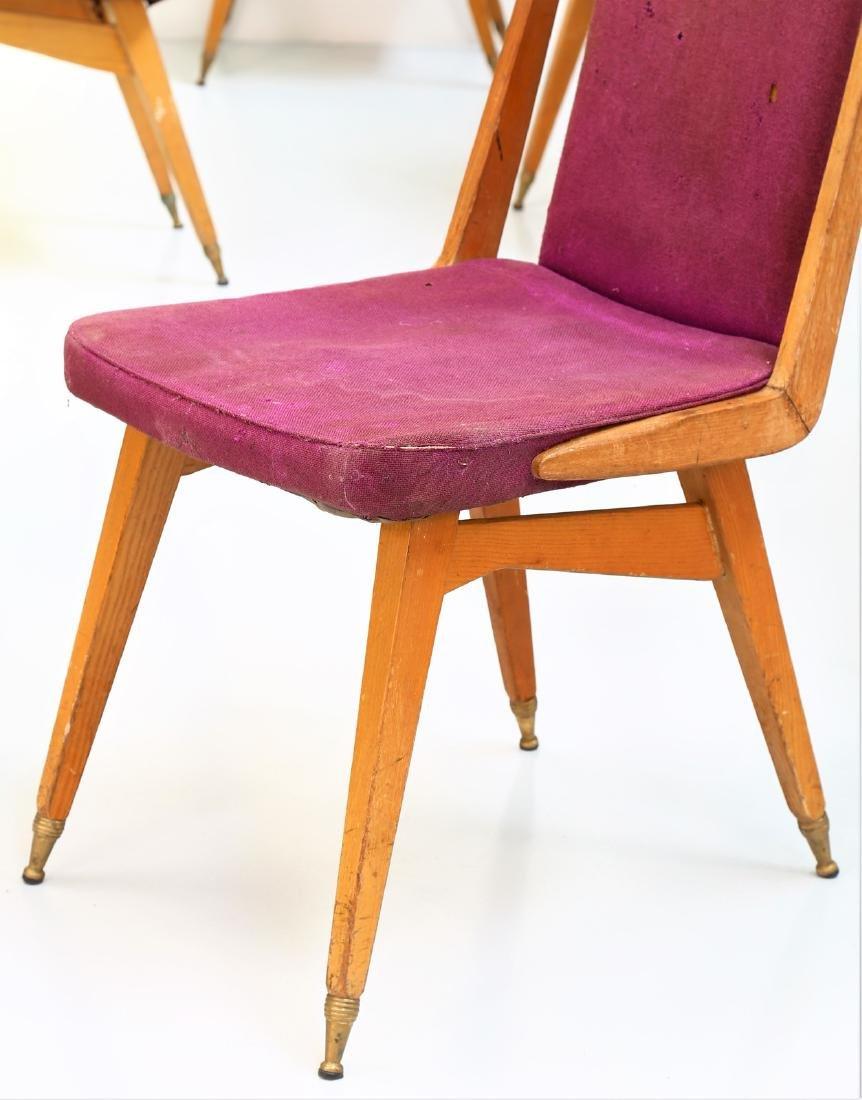 MANIFATTURA ITALIANA  Fifteen chairs in wood, fabric - 3