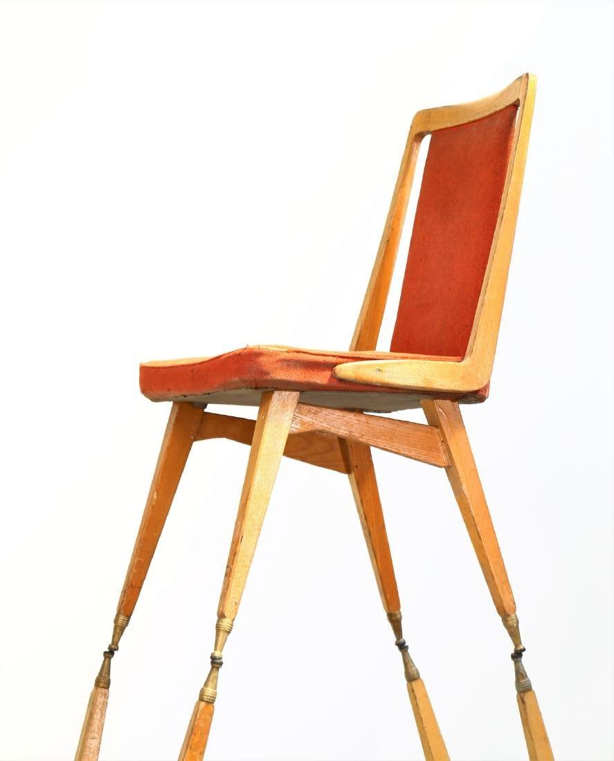 MANIFATTURA ITALIANA  Fifteen chairs in wood, fabric - 4