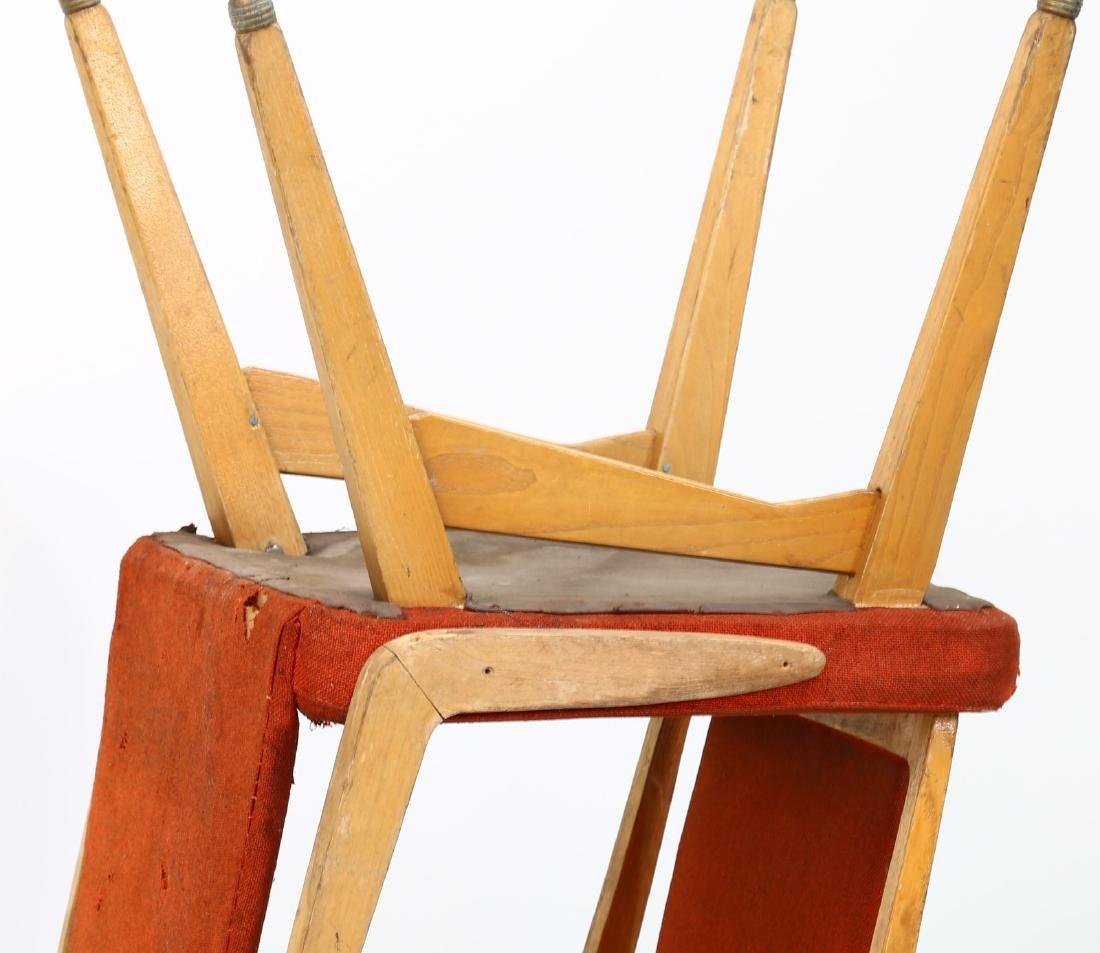 MANIFATTURA ITALIANA  Fifteen chairs in wood, fabric - 5