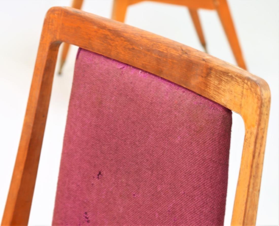 MANIFATTURA ITALIANA  Fifteen chairs in wood, fabric - 6