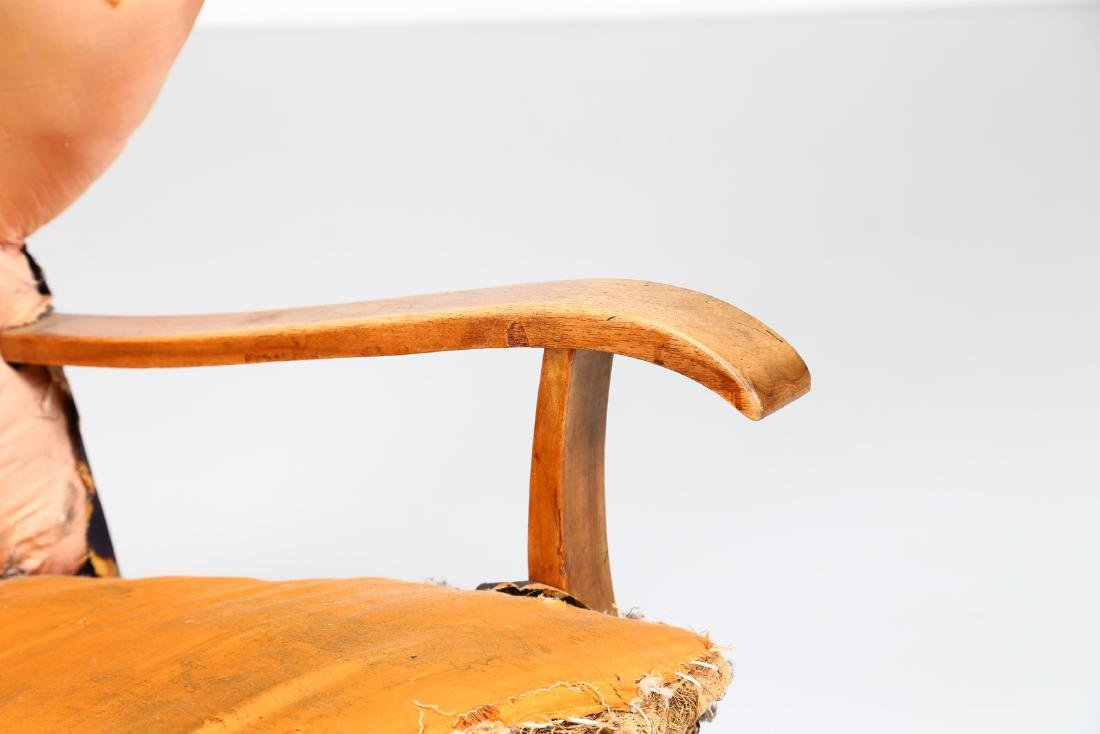 MELCHIORRE BEGA Wood and fabric armchair, 1940s. - 4