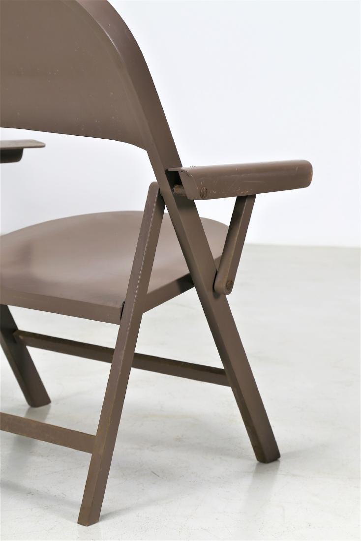 ACHILLE CASTIGLIONI Six folding chairs in lacquered - 2