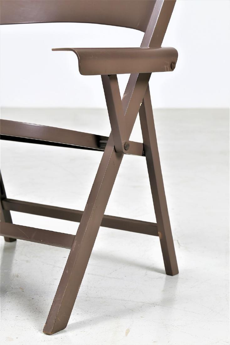 ACHILLE CASTIGLIONI Six folding chairs in lacquered - 3
